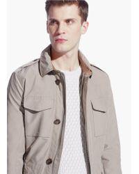 Mango Natural Nylon Field Jacket for men