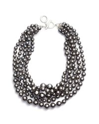 Anne Klein | Metallic Multistrand Faux Pearl Necklace | Lyst