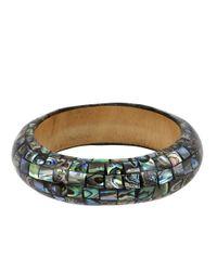 Robert Lee Morris - Gray Abalone Shell Bangle Bracelet - Lyst