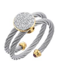 Alor | Metallic Wraparound Cable Diamond Ring | Lyst