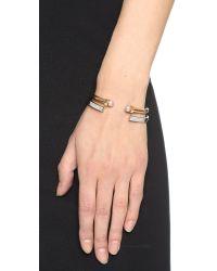 Vita Fede Metallic Open Crystal Bracelet - Silver/clear