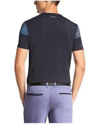BOSS Green Blue T-shirt: 'tee 6' In Cotton Blend for men