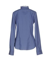 Pinko - Blue Shirt - Lyst