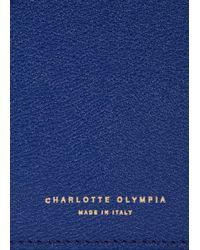 Charlotte Olympia Feline Royal Blue Leather Cross-body Bag