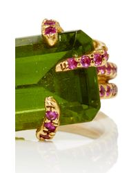 Sharon Khazzam - Green Peridot Rope Ring - Lyst