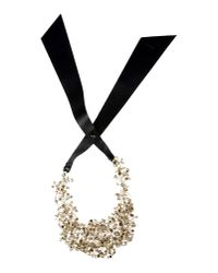 Jil Sander | Black Necklace | Lyst