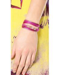 Aurelie Bidermann | Purple Takayama Bracelet Rosepivoine | Lyst