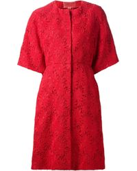 Giambattista Valli Red Floral Lace Dress