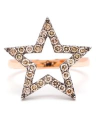Rosa De La Cruz | Pink Diamond Star Ring | Lyst