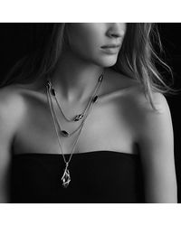 David Yurman | Metallic Cable Wrap Pendant Diamonds | Lyst
