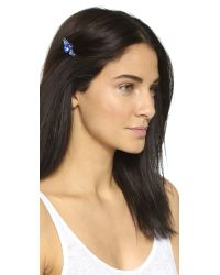 Dauphines of New York Metallic Belle Of The Ball Barrette - Sapphire