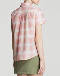 Marc By Marc Jacobs Pink Shirt - Blurred Gingham Voile Button Up