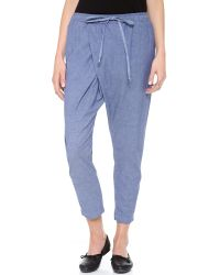 CLU | Blue Cropped Sarong Pants | Lyst