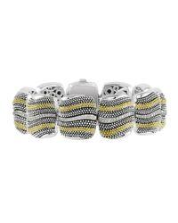 Lagos | Metallic Soiree Caviar Diamond Wave Bracelet | Lyst