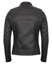 Rick Owens | Black Zipped Stooges Leather Biker Jacket for Men | Lyst