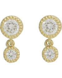 Tate | Metallic Women's Diamond Double-drop Earrings | Lyst