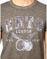 Pepe Heritage | Gray Tshirt Barrel Overdye Marl for Men | Lyst