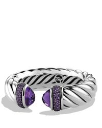 David Yurman - Metallic Waverly Bracelet With Amethyst & Purple Sapphires - Lyst