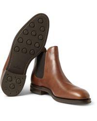 John Lobb - Brown Misty Leather Chelsea Boots for Men - Lyst