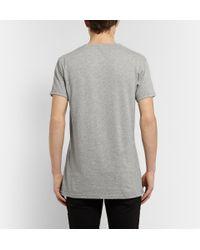 Balmain Gray Metallic Printed Cotton T-shirt for men