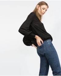 Zara | Black Crossover Top | Lyst