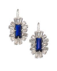 Alexis Bittar | Blue Miss Havisham Framed Baguette Drop Earrings | Lyst