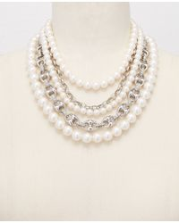 Ann Taylor | Metallic Heirloom Pearl Statement Necklace | Lyst