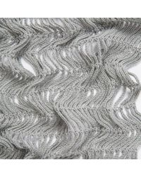 Paul Smith | Gray Men's Grey Netted Cotton Scarf for Men | Lyst