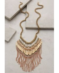Anthropologie - Natural Mireya Fringe Necklace - Lyst