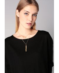 Pieces | Metallic Necklace / Longcollar | Lyst