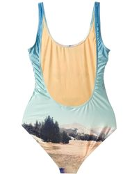 We Are Handsome Multicolor Lion Print Swimsuit