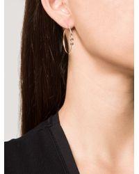 Hoorsenbuhs | Pink Diamond Three Bridal Link Hoop Earrings | Lyst