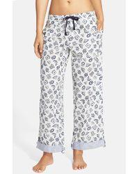 Jane & Bleecker New York Gray Printed Drawstring Lounge Pants