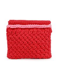 Wool And The Gang | Red Hold Tight Trim Clutch | Lyst