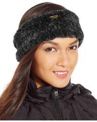 Calvin Klein | Black Faux Fur Headband | Lyst