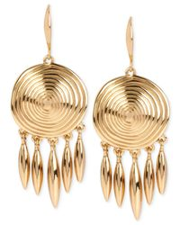 Robert Lee Morris Metallic Bronze-tone Spiral Drop Earrings
