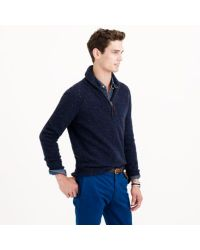 J.Crew Blue Donegal Wool Halfzip Sweater for men