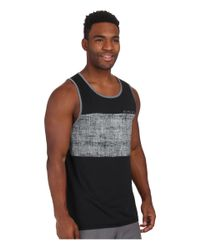 Rip Curl - Black Chest Stripe Tank Top for Men - Lyst