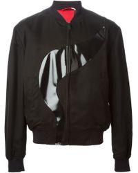 Alexander McQueen - Black Abstract Panel Bomber Jacket for Men - Lyst