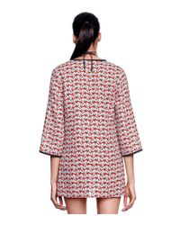Tory Burch Red Calyx Tunic
