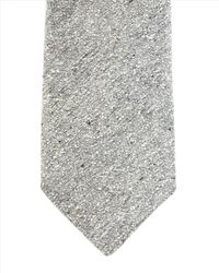 Jaeger - Gray Silk Donegal Tie for Men - Lyst