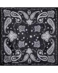 Zadig & Voltaire Black Dandy Bandana 120X120 Shawl