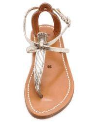 K. Jacques Buffon Metallic Sandals - Disco Platine