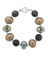 Lord & Taylor | Metallic Sterling Silver Bracelet With Mixed Beads And Quartz | Lyst