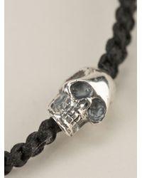 King Baby Studio | Black Woven Skull Charm Bracelet | Lyst