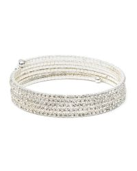 Anne Klein | Metallic Silvertone Multi-strand Bangle | Lyst
