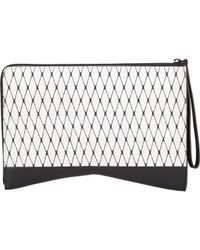 Narciso Rodriguez Multicolor Diamond-patterned Python Clutch