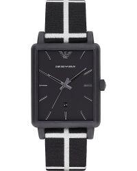 Emporio Armani Black Ar1857 Luigi Resin And Leather Watch - For Men for men