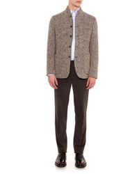 Brioni Brown Tigullio-Fit Cotton Chinos for men