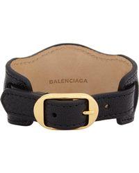 Balenciaga - Black Ligne Classic Bracelet - Lyst
